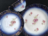 Continental flo blue style Edwardan tea trio